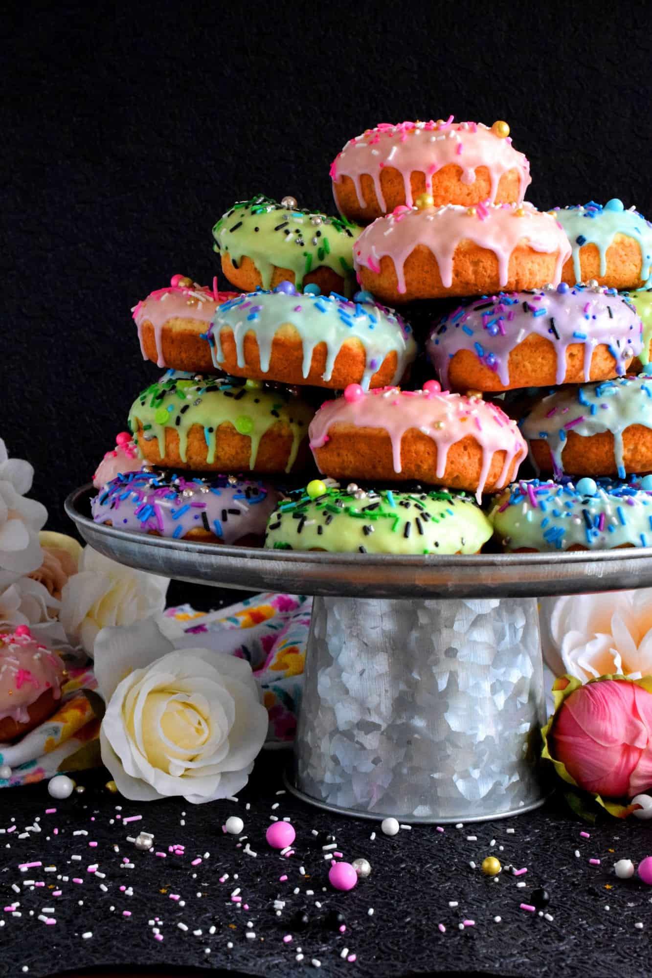 Springtime Stacked Donut Cake