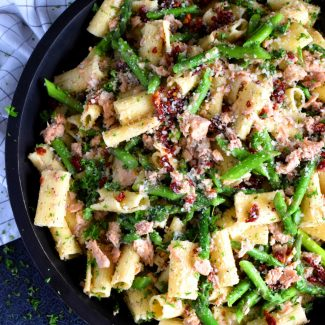 Salmon And Asparagus Pasta Salad