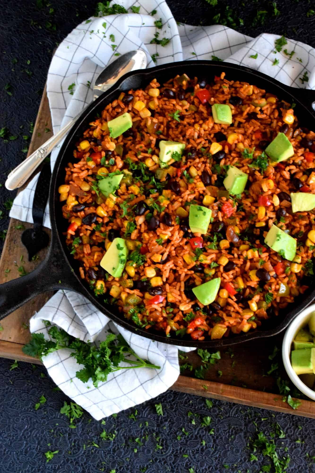 30 Minute Black Bean Corn And Rice Skillet