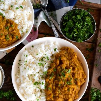 Yellow Split Pea Dal With Basmati Rice
