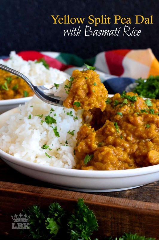 Yellow Split Pea Dal with Basmati Rice