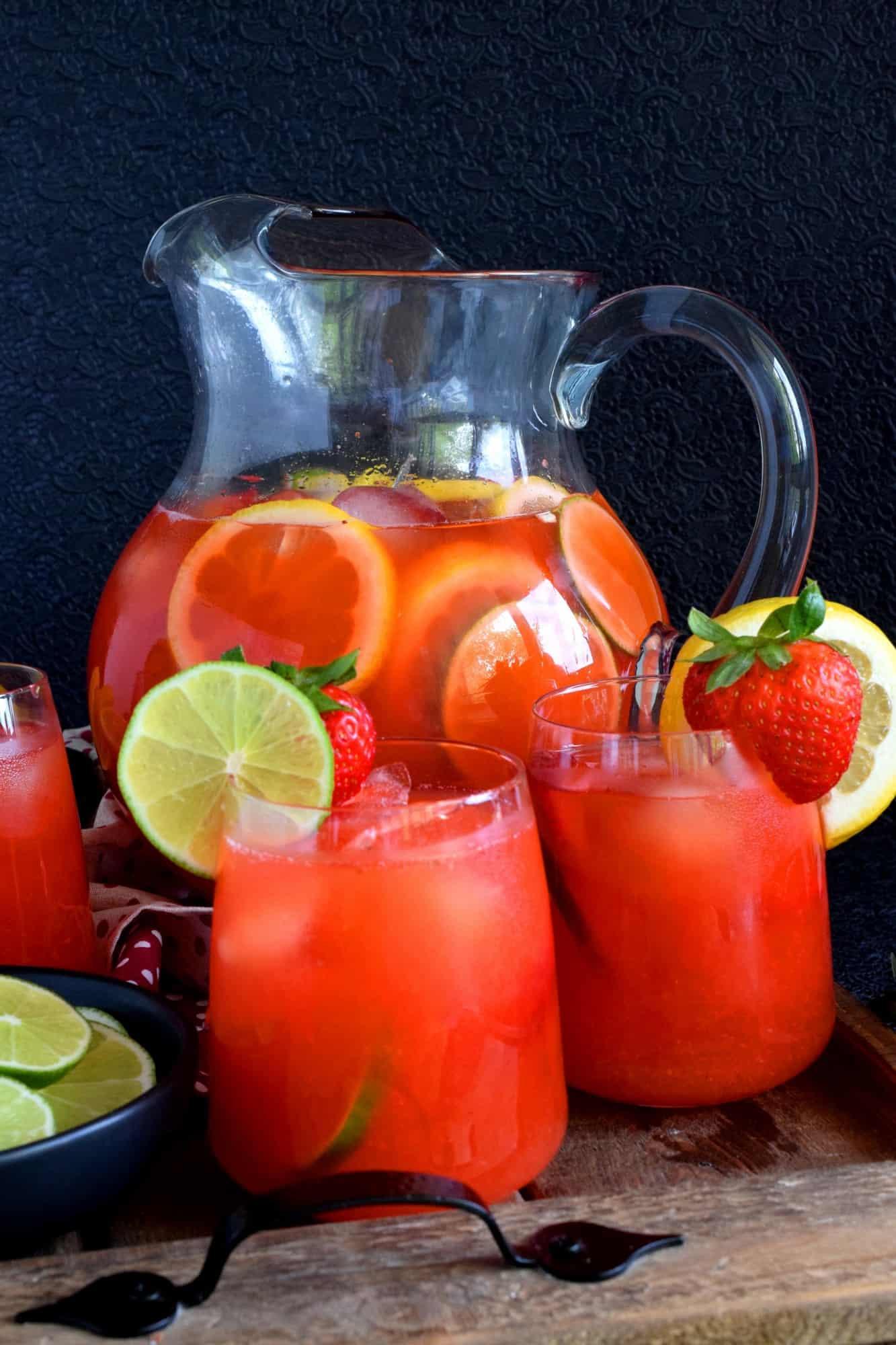 Strawberry Lime Lemonade