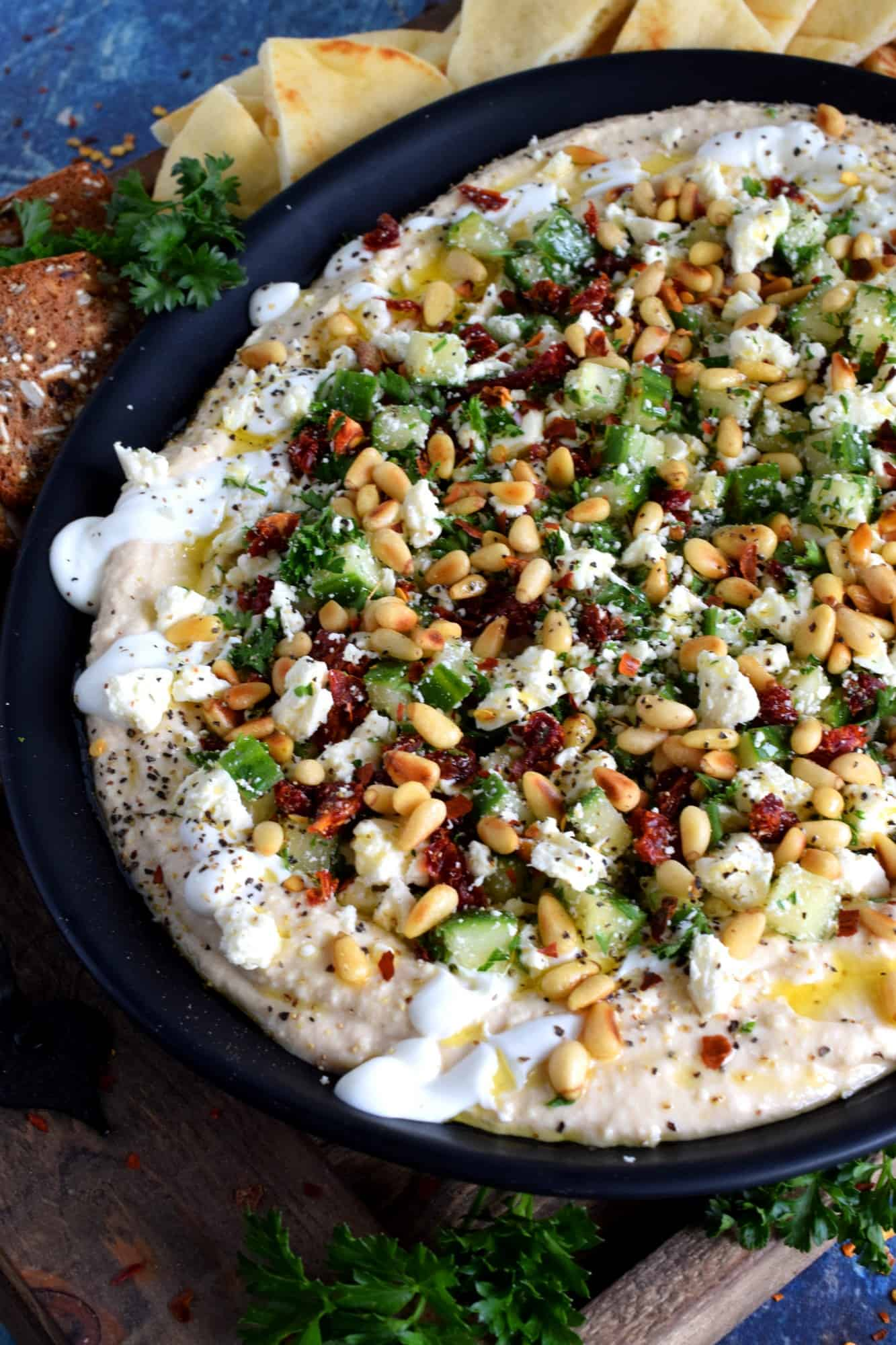 Hummus Party Dip Platter