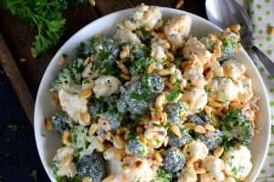 Chopped Broccoli And Cauliflower Salad