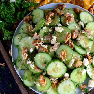 Cucumber Walnut Salad