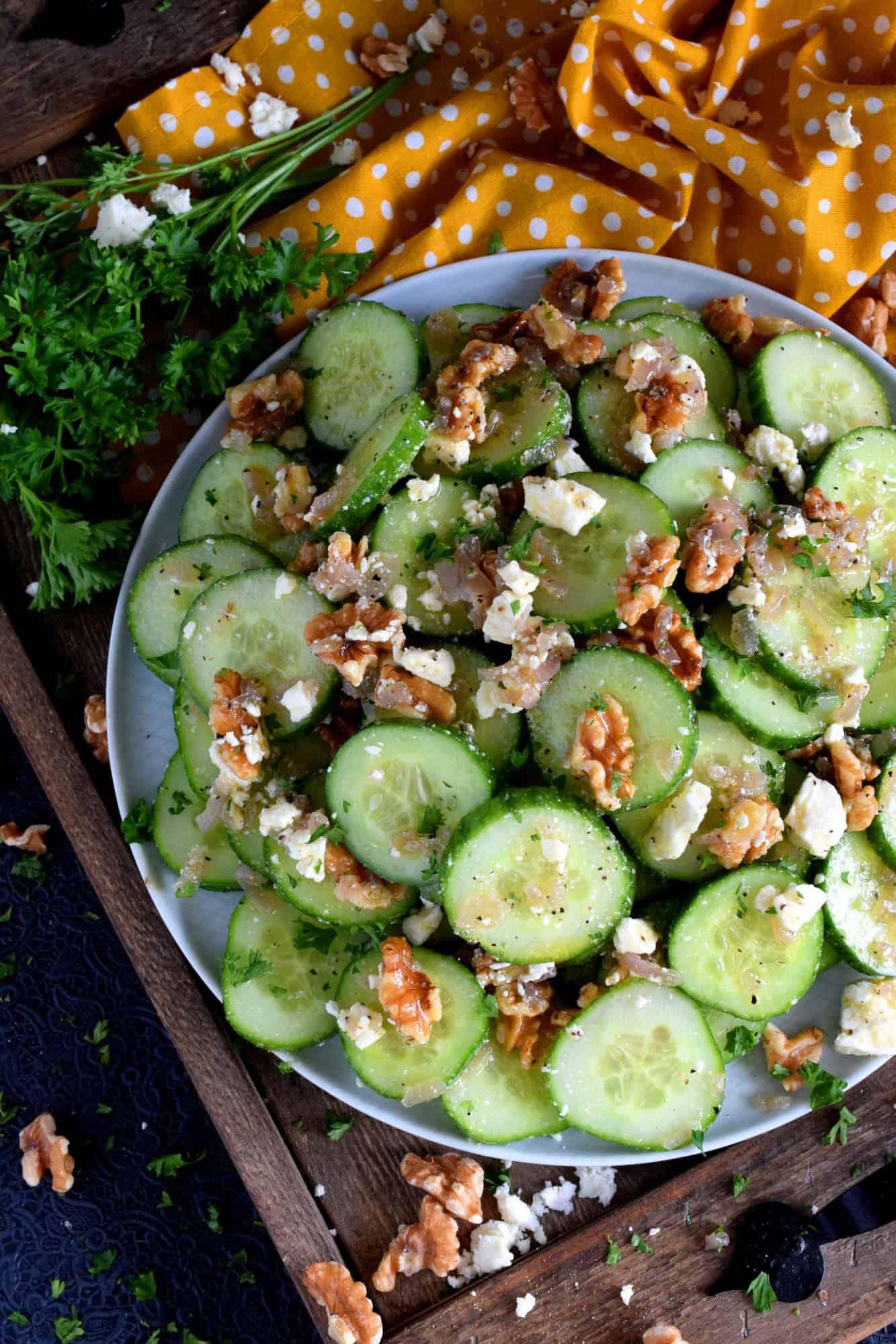 Cucumber Walnut Salad