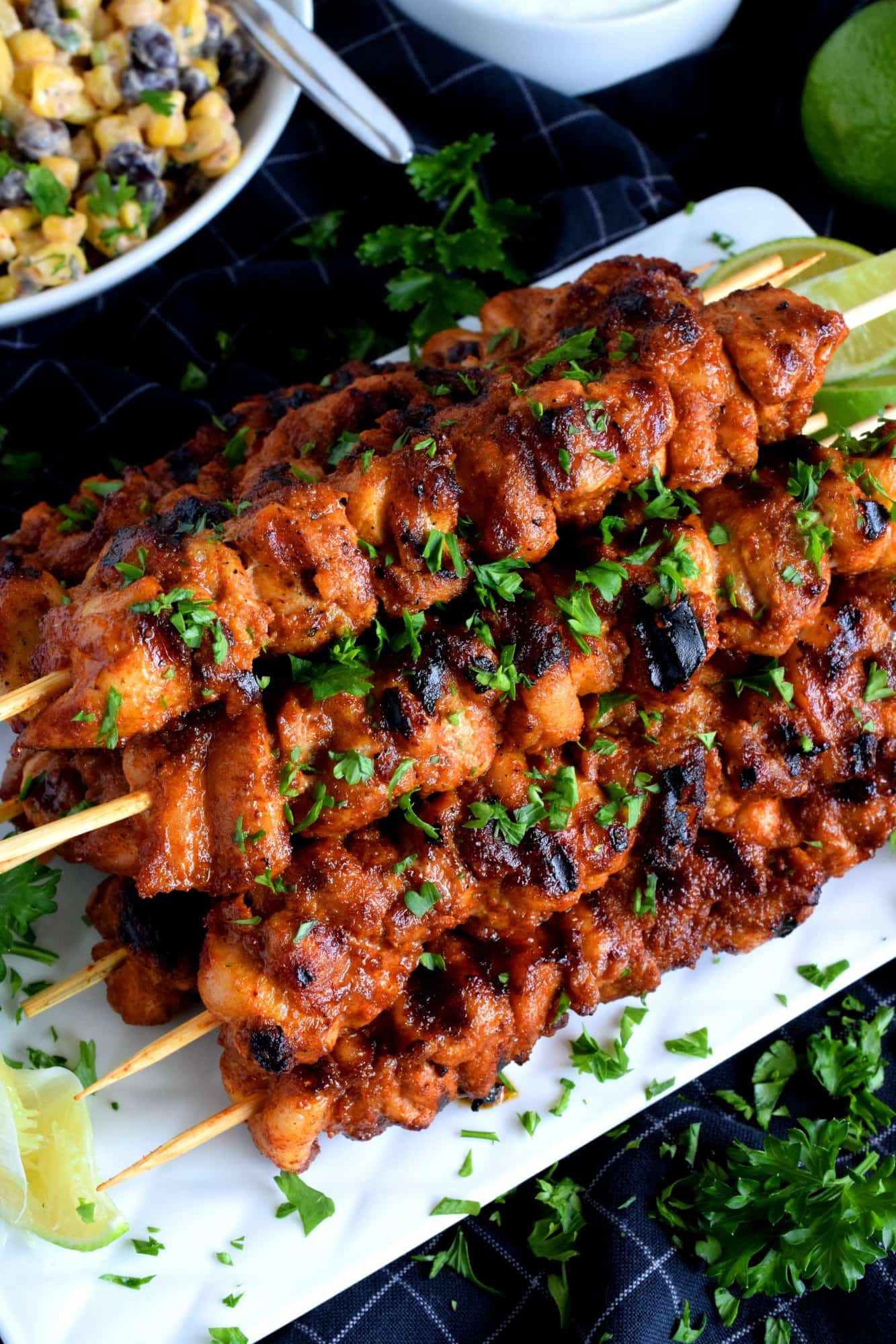 Mexican Dry Rub Grilled Chicken Skewers