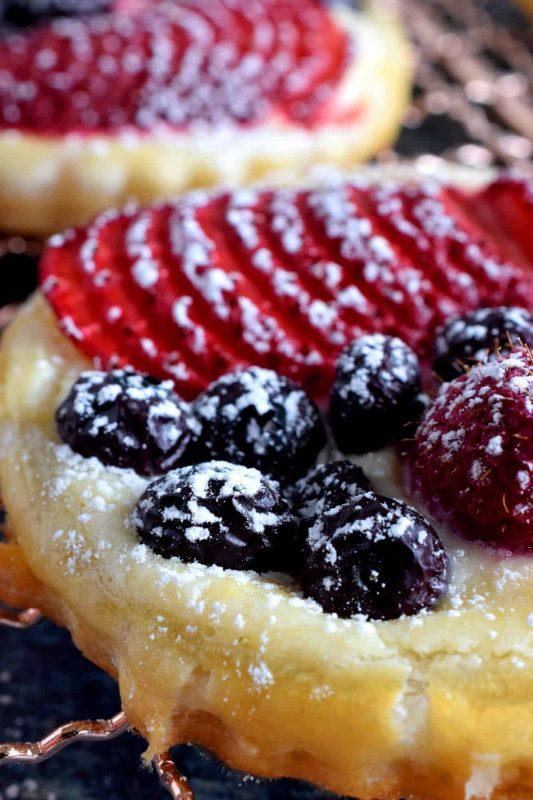 Puff Pastry Cream Cheese Fruit Tarts