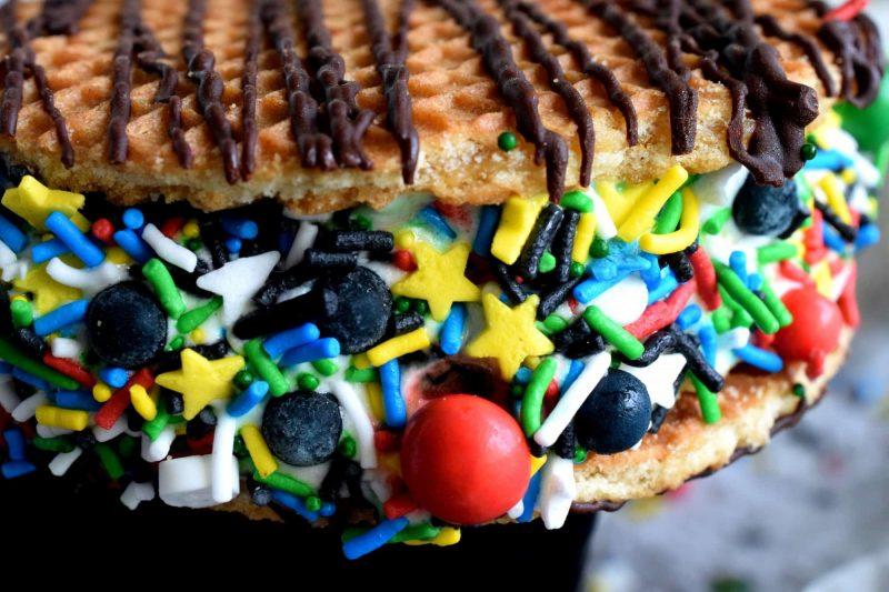 Stroopwafel Ice Cream Sandwich Cookies