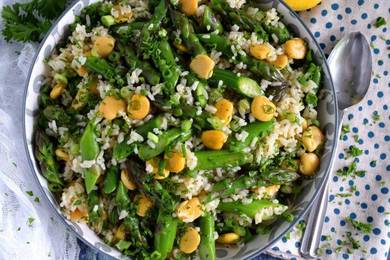 Asparagus Lupini Bean Salad