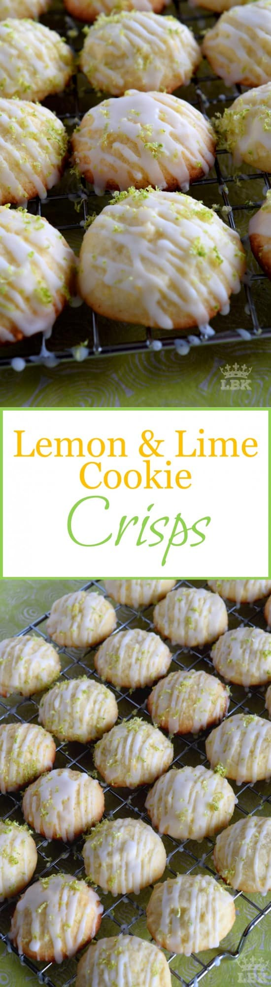 Lemon and Lime Cookie Crisps