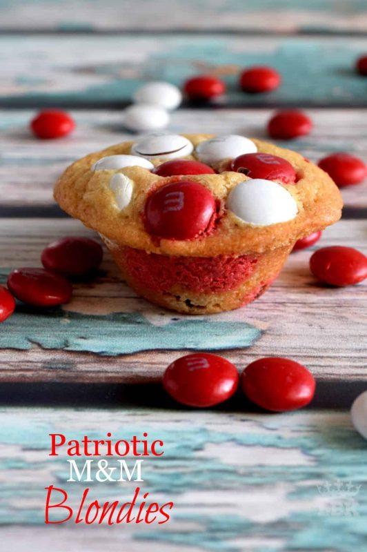 Patriotic M&M Blondies