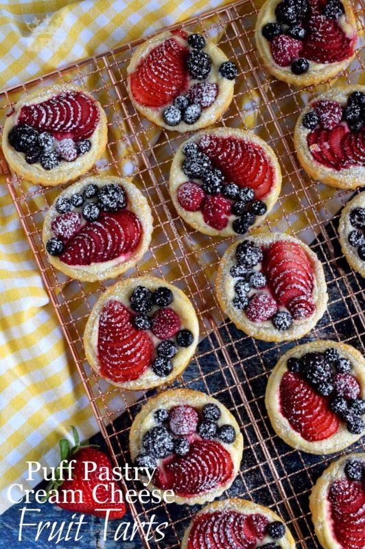 Puff Pastry Cream Cheese Fruit Tarts