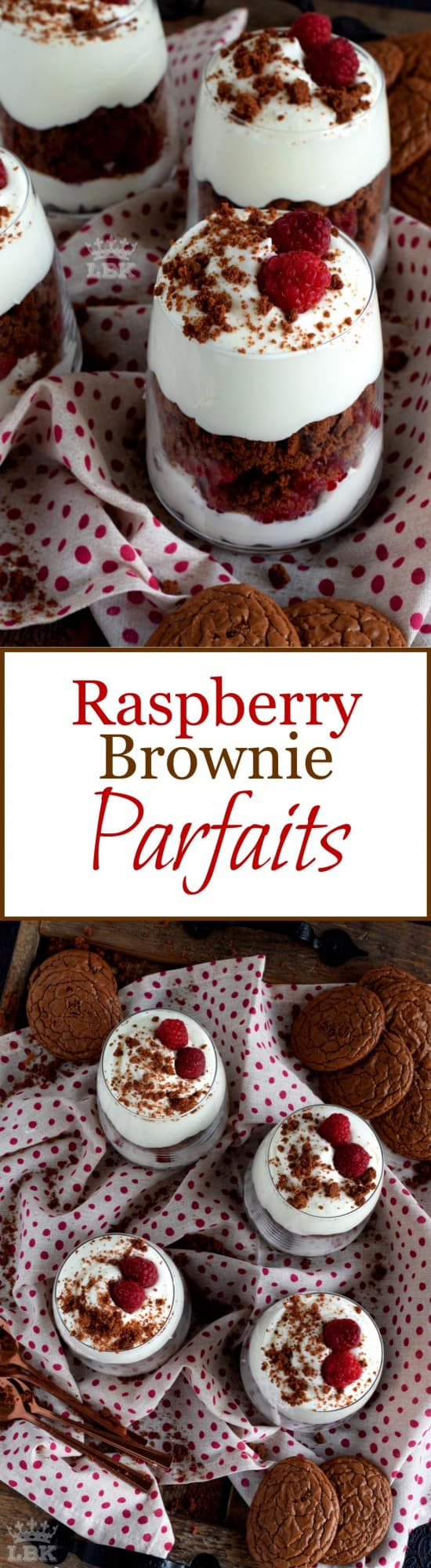 Raspberry Brownie Parfaits
