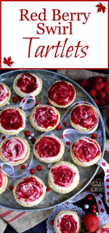 Red Berry Swirl Tartlets
