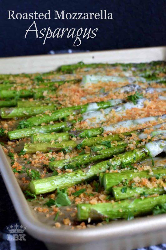 Roasted Mozzarella Asparagus