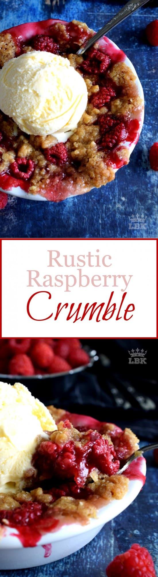 Rustic Raspberry Crumble
