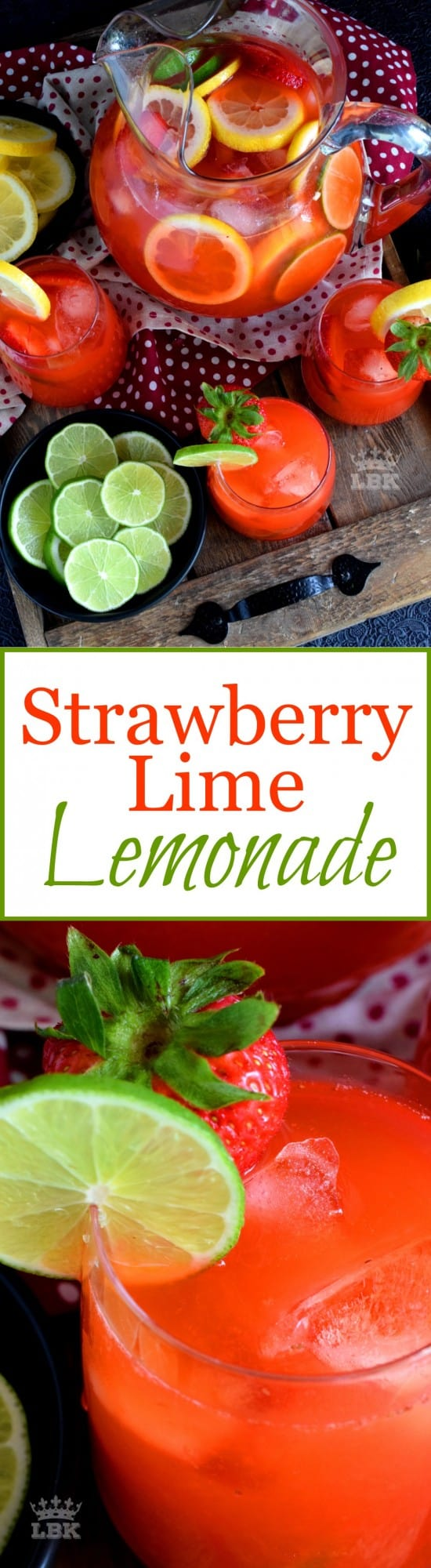 Strawberry Lime Lemonade
