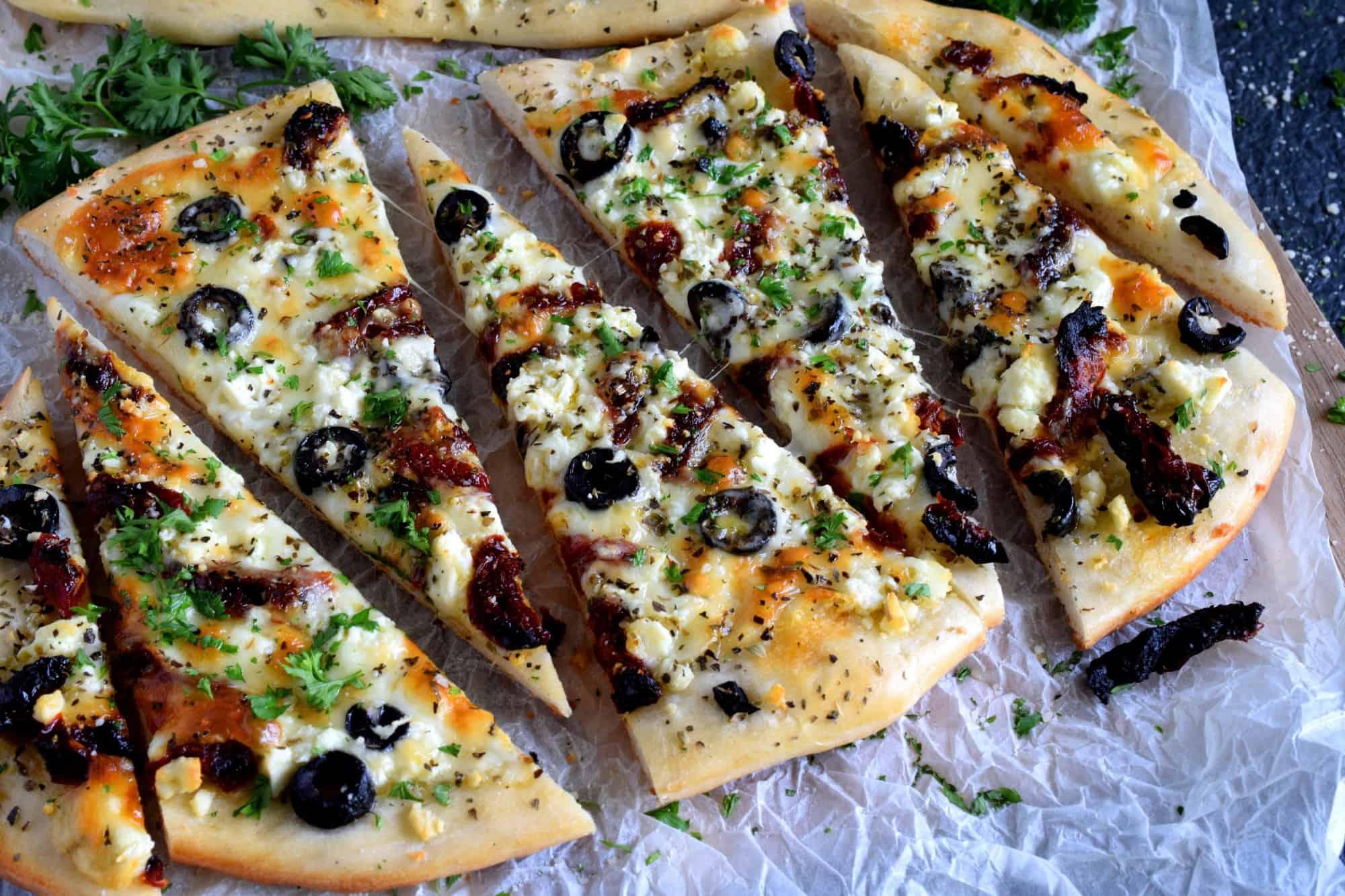 Homemade Mediterranean Flatbread