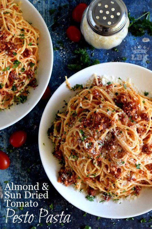 Almond and Sun Dried Tomato Pesto Pasta - Lord Byron's Kitchen