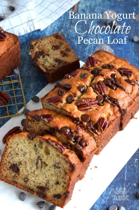 Banana Yogurt Chocolate Pecan Loaf