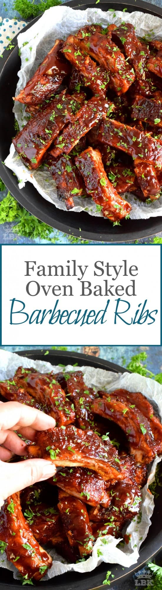 Family Style Oven Baked Barbecued Ribs