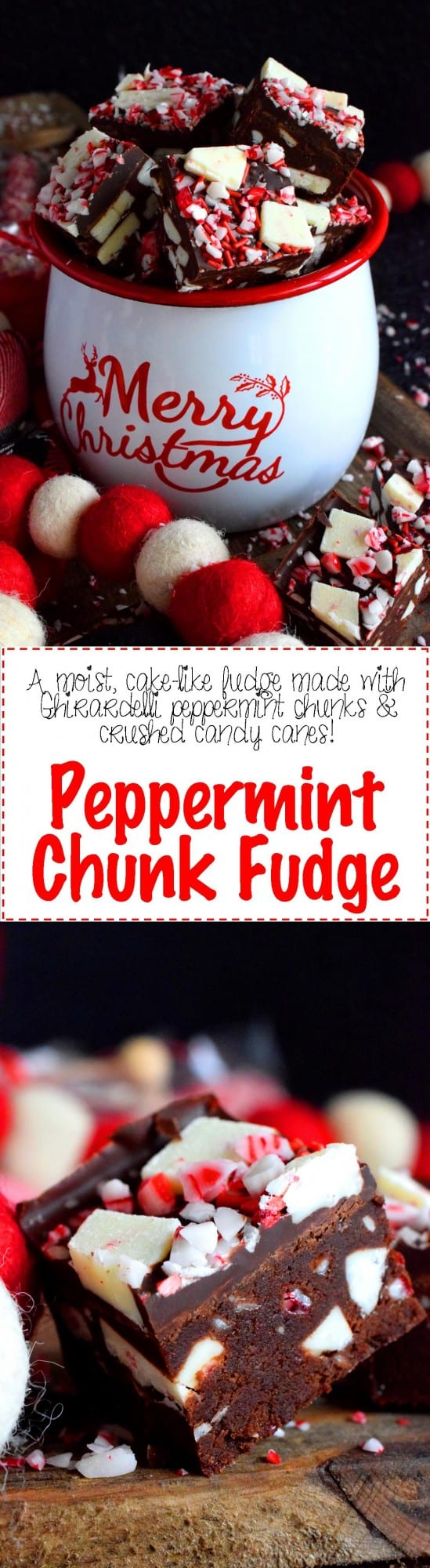 Peppermint Chunk Fudge