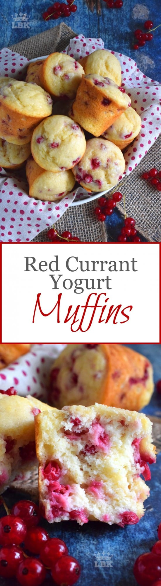 Red Currant Yogurt Muffins