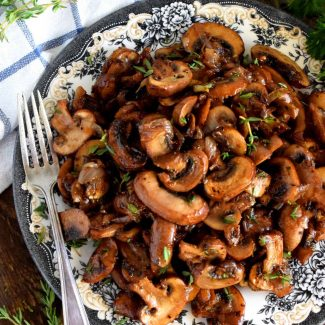 Brown Butter Mushrooms And Shallots