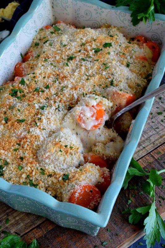 Creamy Cheesy Carrot Casserole