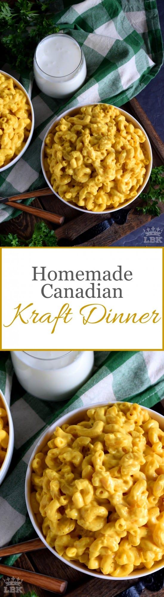 Homemade Canadian Kraft Dinner