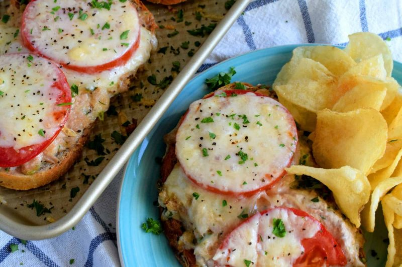Open Faced Tuna Melt Sandwiches