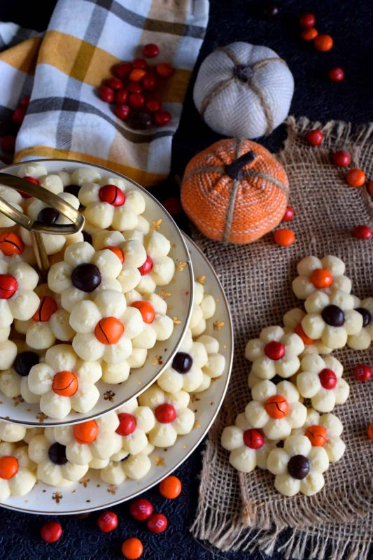 Fall Flower Spritz Cookies