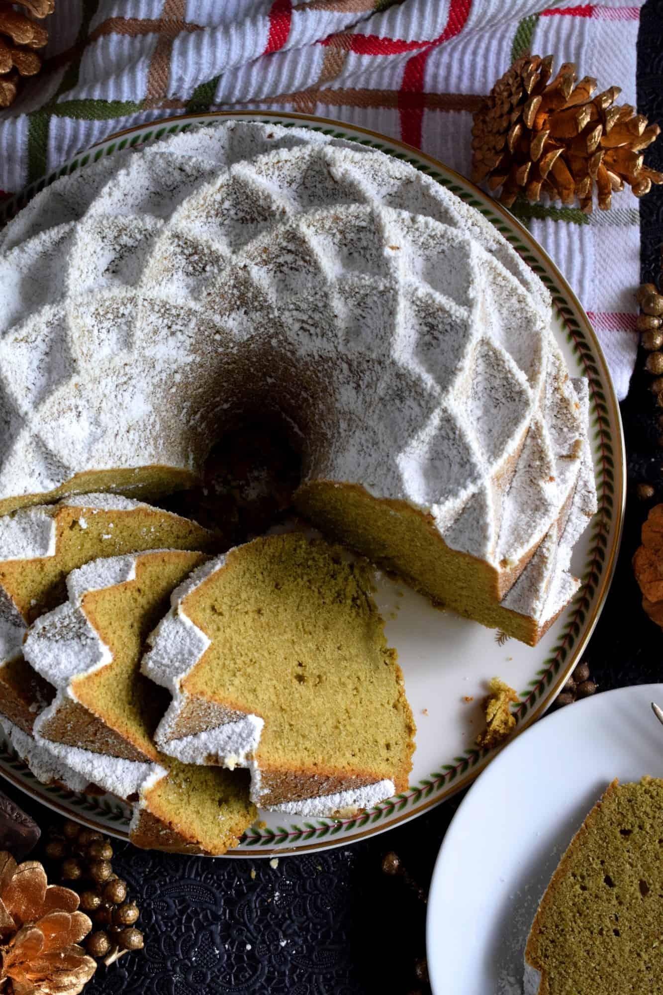 Holiday Matcha Bundt Cake