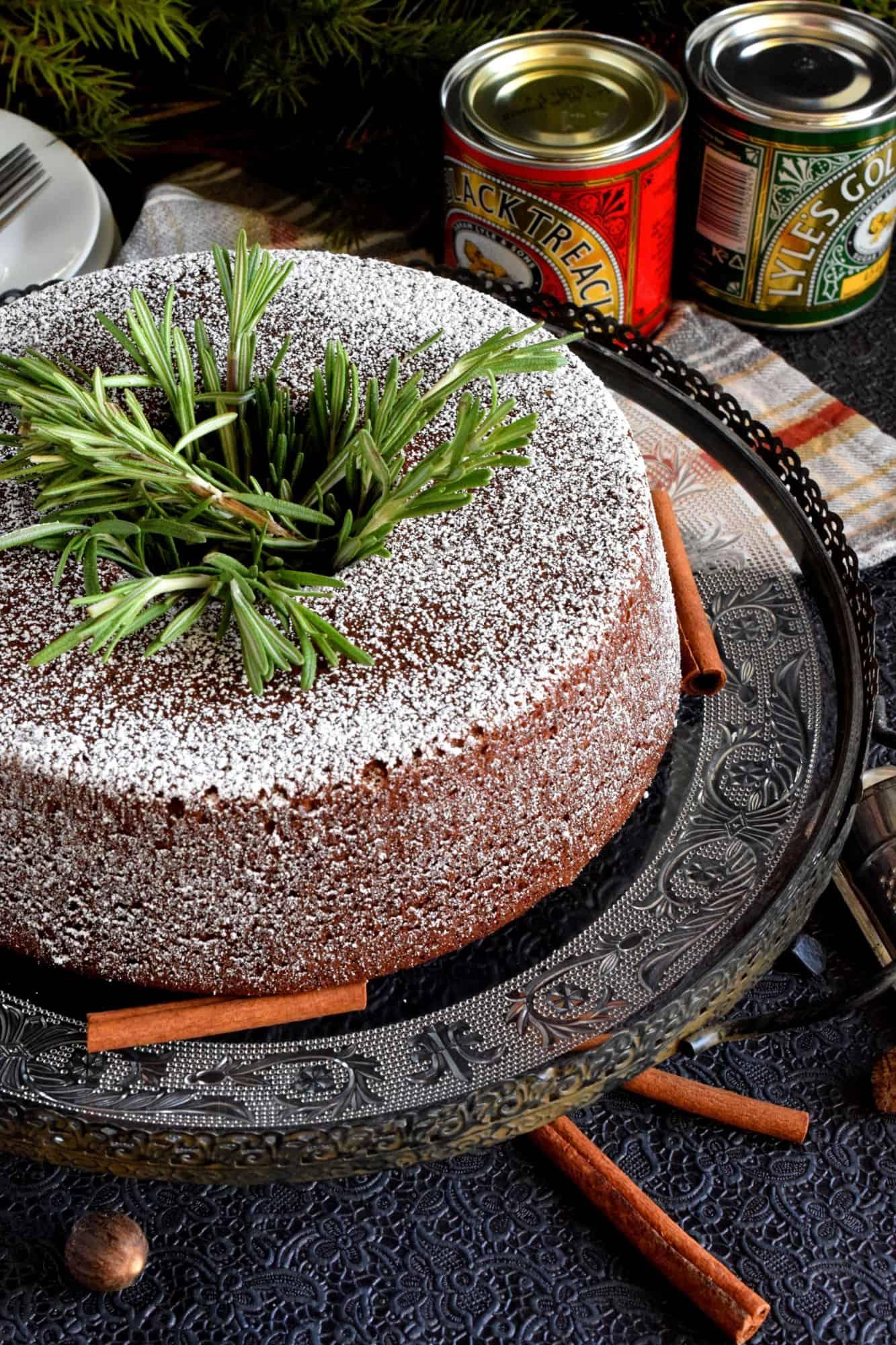 Spiced Molasses Bundt Cake
