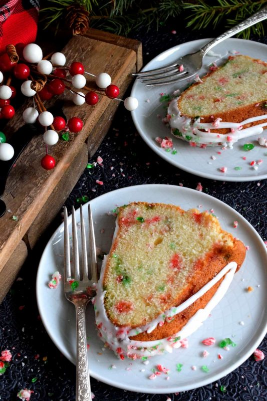 Candy Cane Peppermint Bundt Cake