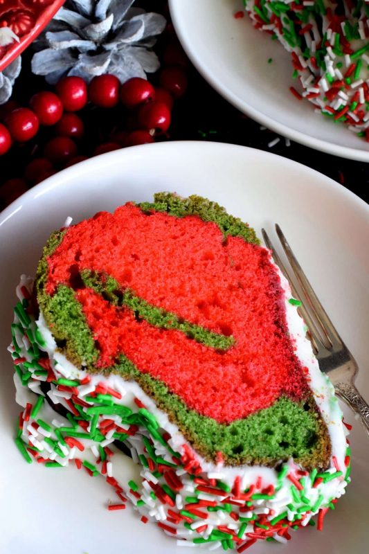 Marbled Christmas Bundt Cake