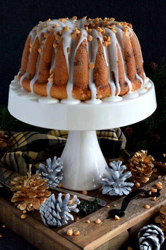 Glazed Butterscotch Chip Bundt Cake
