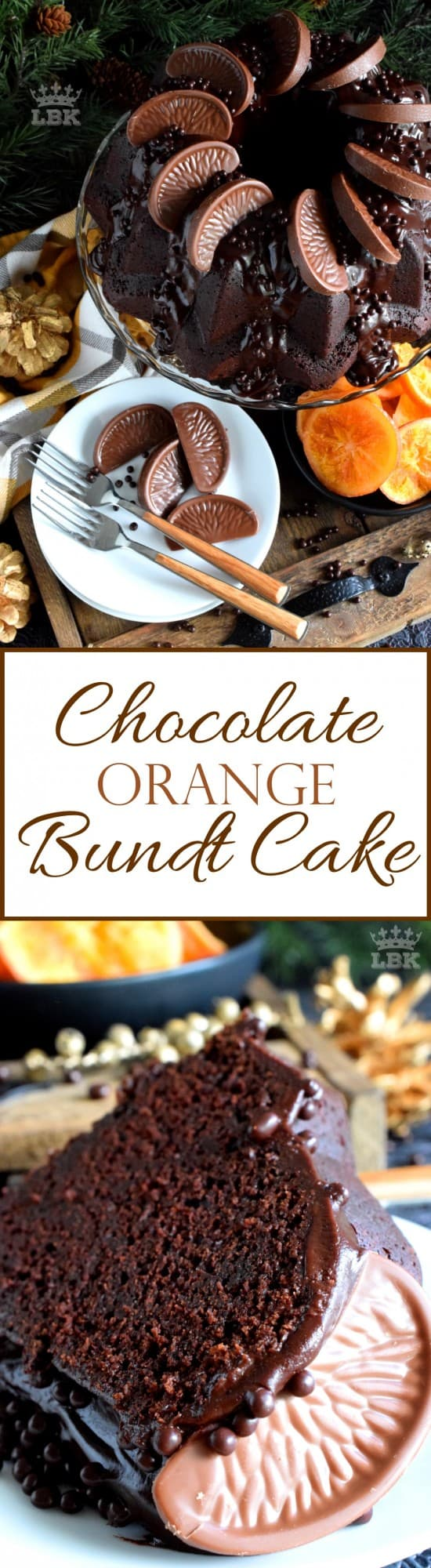 Chocolate Orange Bundt Cake - When you combine chocolate and orange, they form the perfect flavour combination; and these flavours are bold and bright in this bundt cake.#chocolate #orange #bundt #cake #bundtbakers #Christmas #holiday