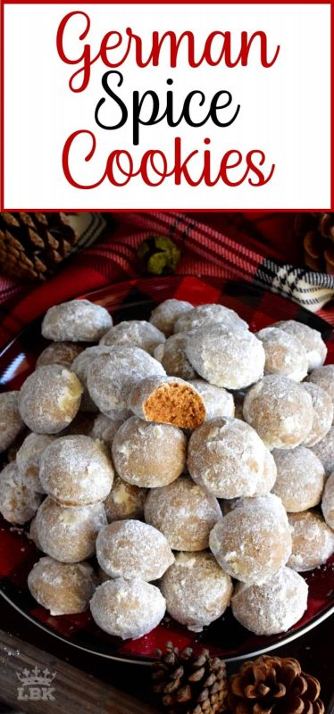 German Spice Cookies - Bursting with every Christmas flavour you can possibly crave, German Spice Cookies are not overly sweet, but quite aromatic and warm. #German #spice #cookies #christmas #holiday #baking #molasses