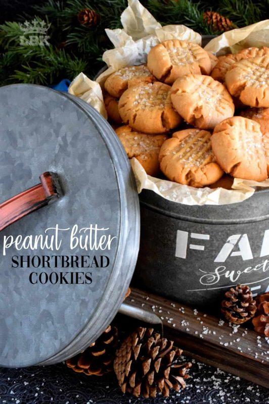 Peanut Butter Shortbread Cookies