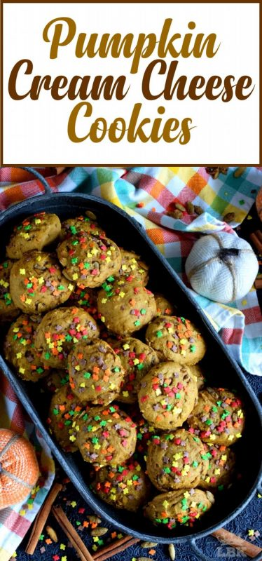 Pumpkin Cream Cheese Cookies - Light and fluffy cookies made with cream cheese and real pumpkin, Pumpkin Cream Cheese Cookies are loaded up with everything pumpkin!#pumpkin #spice #cookies #canned #puree