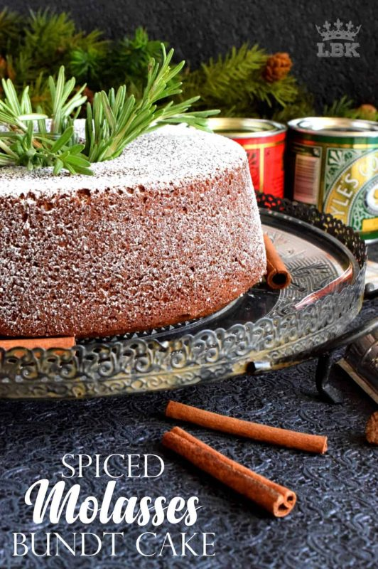 Spiced Molasses Bundt Cake