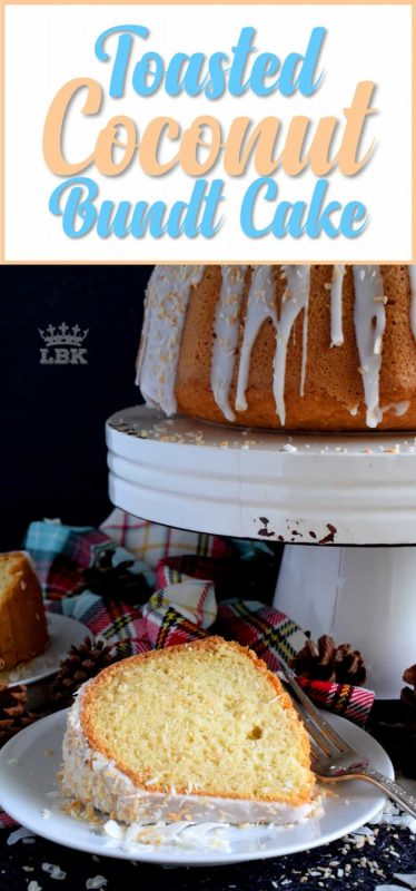 Toasted Coconut Bundt Cake - If you have a coconut lover in your life, this gorgeous Toasted Coconut Bundt Cake is going to make that person very happy!#toasted #coconut #bundt #cake #bundtbakers #Christmas #holiday