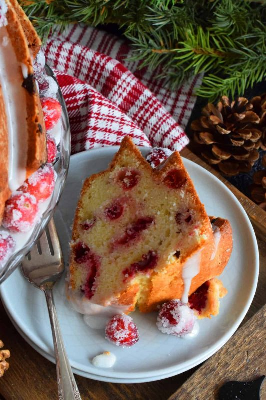 Frosted Cranberry Bundt Cake