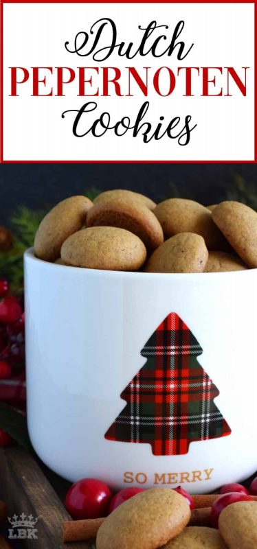 Dutch Pepernoten Cookies - Pepernoten are Dutch cookies which are traditionally baked and eaten during Sinterklaas festivities. Pepernoten literally translates to pepper nuts! #Dutch #Netherlands #christmas #holiday #cookies #baking #old #fashioned