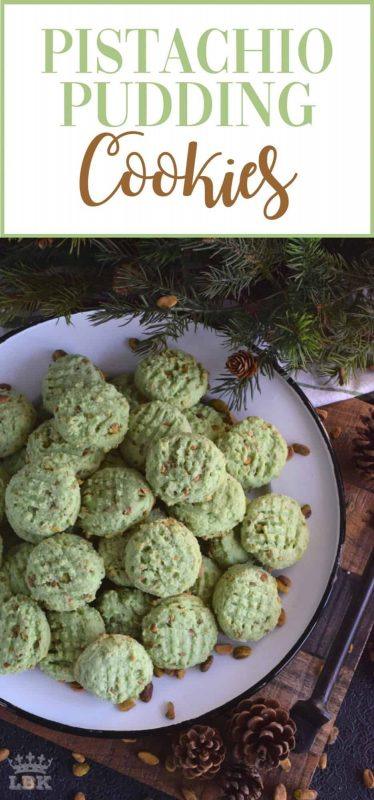 Pistachio Pudding Cookies - Light and fluffy, soft and moist, Pistachio Pudding Cookies are a cookie-lover's dream; and they're green too so they're perfect for the holidays! #pistachio #pudding #cookies #christmas #holiday #baking #green
