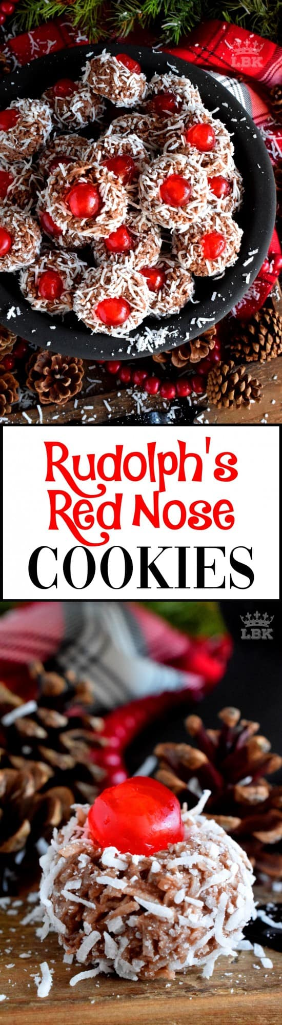 Rudolph's Red Nose Cookies - Santa Claus is coming to town and he's going to need Rudolph's Red Nose to guide his sleigh! Welcome to the 24 Cookies of Christmas countdown! #rudolph #reindeer #cookies #christmas #holiday #baking #advent #countdown