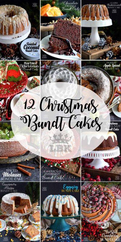 12 Christmas Bundt Cakes