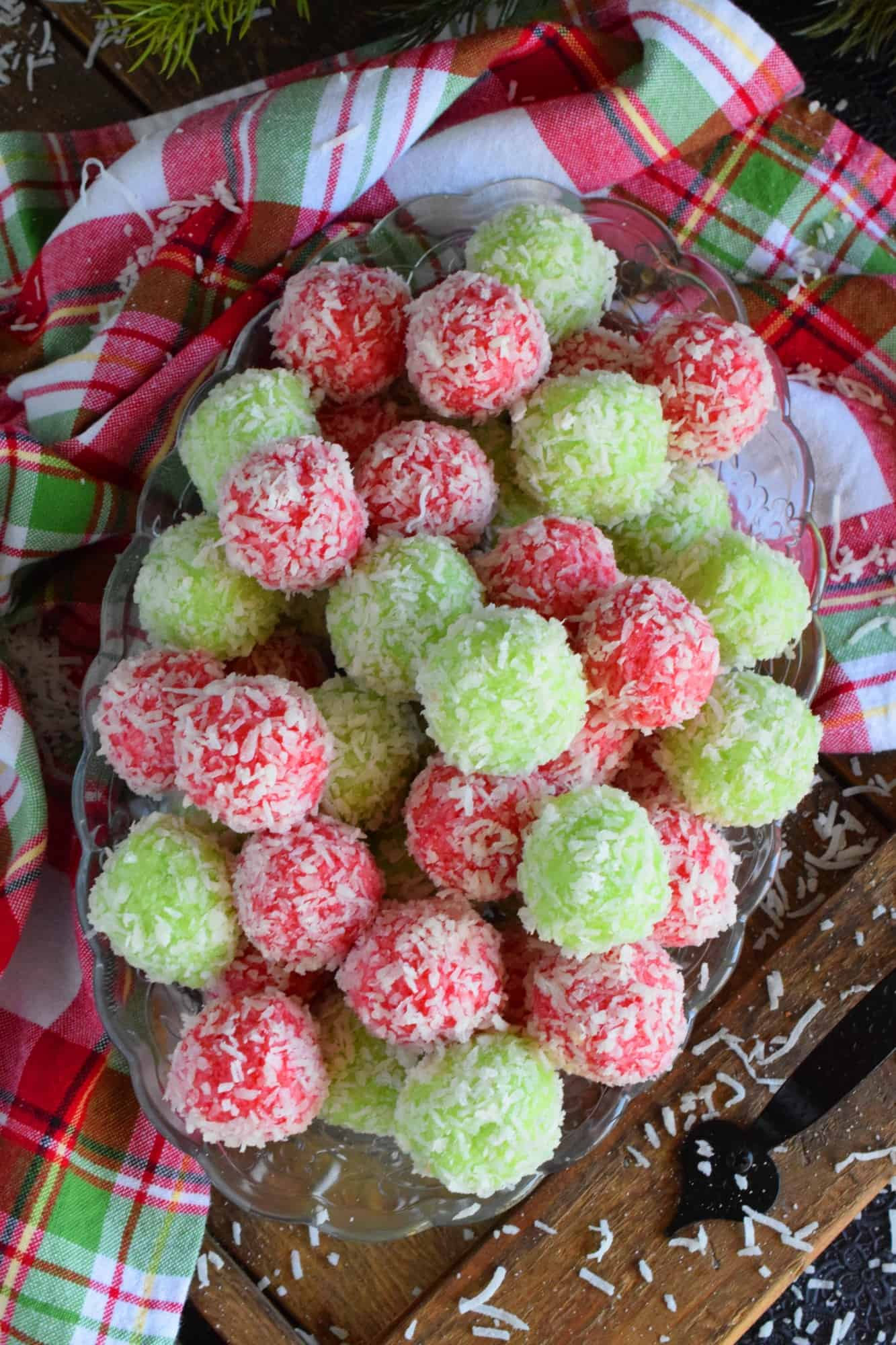 Mom's Christmas Jello Balls
